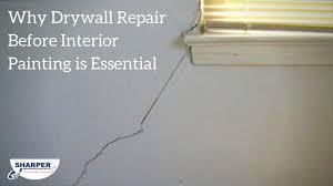 why drywall repair before interior