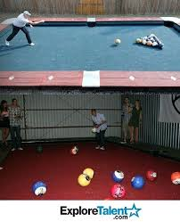 life size pool table life size pool table dallas with bowling balls pool design