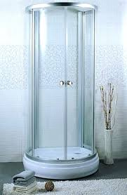 aqua glass eleganza shower wall set stall installation framed freestanding
