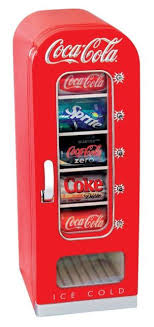 Soda Can Vending Machine Beauteous Soda Vending Machine Mini Fridge Retro Coca Cola Vintage Beverage