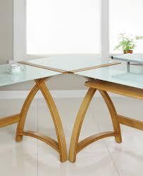dalton corner computer desk sand oak. Modular Real Oak Wood Curve Corner Computer Desk Dalton Sand T