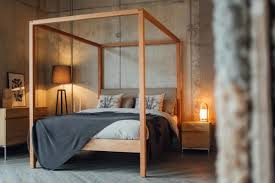 four poster bedroom furniture. Highland 4 Poster Bed Upholstered In Pure Wool Fabric Four Bedroom Furniture