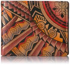 Anuschka Hand Painted Designer Leather Wallet For Men Stocking
