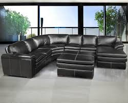 stylish black sectional leather sofa living room design best u pertaining to black sectional leather sofa