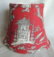 image 0 toile lamp shades blue white red shade scenic
