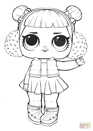 Coloring Pages Lol Surprise Doll Snow Angeling Page Sheet Sprints