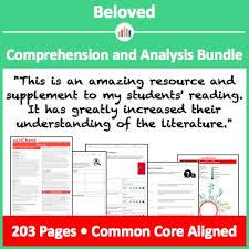 Beloved Comprehension And Analysis Bundle