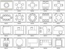 office furniture in plan view