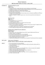 Equity Sales Assistant Resume Equity Sales Resume Samples Velvet Jobs 16