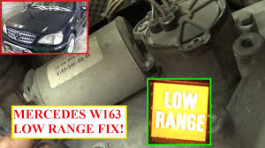 low range transfer case motor removal and replacement on mercedes W163 Parts at W163 Removing Fuse Box