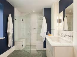 Navy Blue Bathroom Ideas Dark Brown Vanity Cabinet White Sitting ...