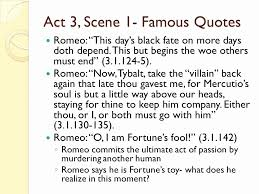 Romeo And Juliet Quotes About Fate