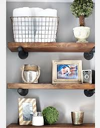 metal and wood wall shelves stunning 15 unique shelf decor ideas home design 10