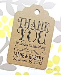 thank you tags for wedding favors custom thank you wedding favor tags kraft cardstock wedding shit