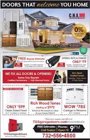 Print-Ad Promotions | TGS Garage Doors - NJ Garage Door Repair Company