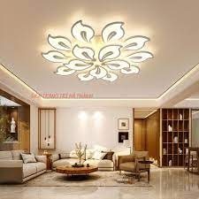 ĐÈN TRẦN trang trí phòng khách -QL12 Đèn Led trang trí 12 cánh, có 3 chế đố  sáng chính hãng 1,589,000đ