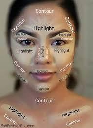 how to highlight and contour your face with makeup like a pro hair makeup nails makeup makeup tips and contour makeup