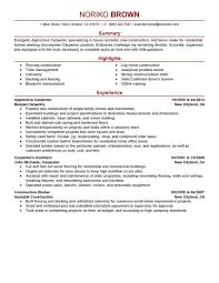 Carpentry Resume Sample Apprentice Carpenter Resume Sample Carpenter Resumes Bunch Ideas Of 14