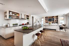 how to decorate an open plan kitchen space