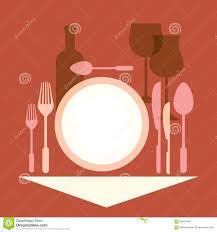 dinner table setting clipart. royalty-free vector. download romantic dinner, table setting dinner clipart