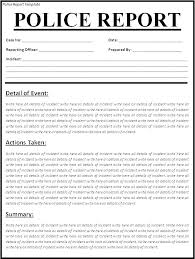 Incident Report Examples Samples Doc Pages Information