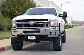 front end view white lifted Chevrolet Silverado truck | Sweet ...