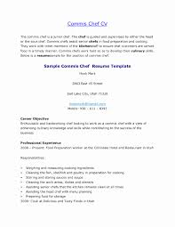 Best Ideas Of Example Cv For Demi Chef De Partie Position
