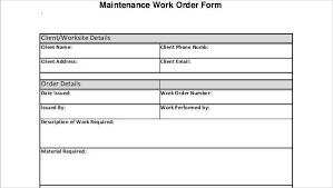 Free 18 Free Work Order Forms Pdf