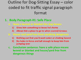 getting started writing in th grade 16 outline for dog sitting essay