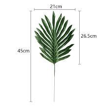 <b>24pcs</b> New Palm <b>Leaves</b> Green Plants Iron Tree Leave Decorative ...