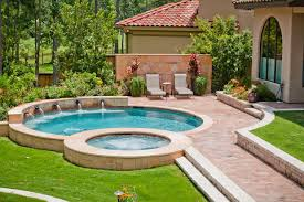 backyard design with pool. Backyard Designs With Pool Mediterranean Design Florida House Plans U-shaped . I
