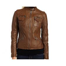 handmade women brown leather jacket women brown biker leather jacket stylish women leather jacket