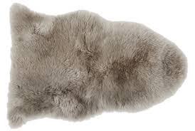 john lewis partners single sheepskin rug grey
