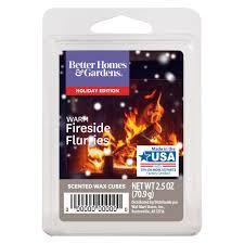 better homes gardens 2 5 oz warm fireside flurries scented wax melts