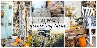 Fall Porch Decorating Fall Porch Decorating Ideas The Wood Grain Cottage