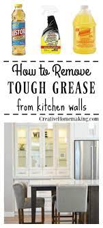 removing grease from painted kitchen