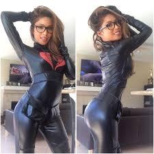 Glasses girls in latex