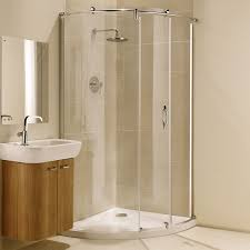 coram premier frameless crescent shower enclosure 950mm x 950mm 8mm glass 0