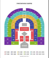 Hamilton Firstontario Centre Seating Chart Www