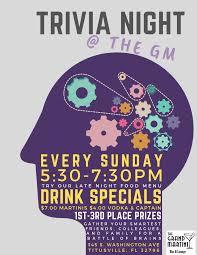 Trivia Night Flyer Titusville Fl Chamber Of Commerce