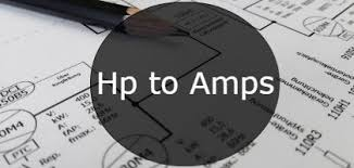 Ac Motor Full Load Amps Chart Hp To Amps Ampere Conversion Calculator Formula Table