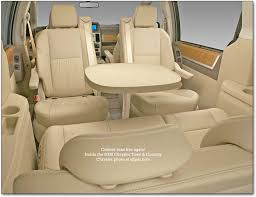 minivan chairs with table