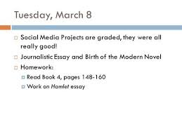 an age the rise of journalism ppt video online  tuesday 8  social media projects are graded they were all really good