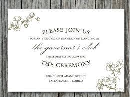 Wedding Invitation Reception Card Wording Samples Invitations Ideas