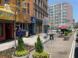 nyc dot pedestrians street seats