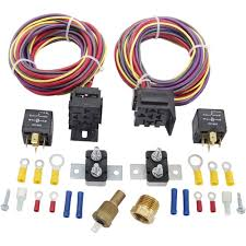 jegs 10570 dual fan wiring harness & relay kit 30 amp jegs  at Wiring Harness Kit For 4 6 Catylist Remival