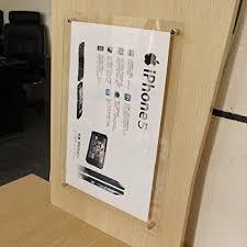 Acrylic wall frames Plexiglass Image Unavailable Pinterest Amazoncom pack Of Units Modern A2 Wall Mounted Floating