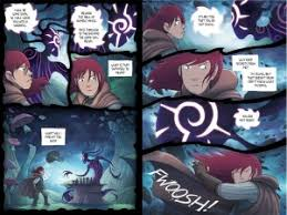 two page spread from amulet book four
