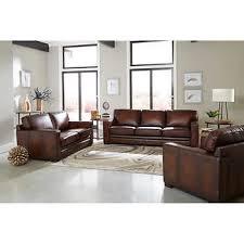 brown leather sofa sets. Fine Sets Luca 3piece Top Grain Leather Set In Brown Sofa Sets