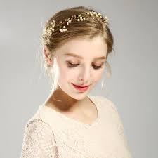 Haarband Bruidsmode Gala Goudkleurig